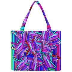 Stars Beveled 3d Abstract Stripes Mini Tote Bag