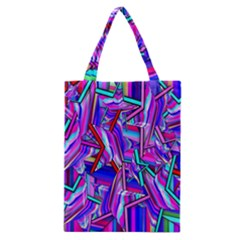 Stars Beveled 3d Abstract Stripes Classic Tote Bag