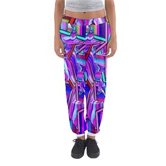 Stars Beveled 3d Abstract Stripes Women s Jogger Sweatpants