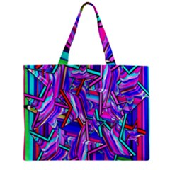 Stars Beveled 3d Abstract Stripes Zipper Mini Tote Bag