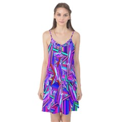 Stars Beveled 3d Abstract Stripes Camis Nightgown