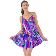 Stars Beveled 3d Abstract Stripes Love The Sun Cover Up