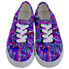 Stars Beveled 3d Abstract Stripes Kids  Classic Low Top Sneakers
