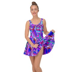 Stars Beveled 3d Abstract Stripes Inside Out Dress