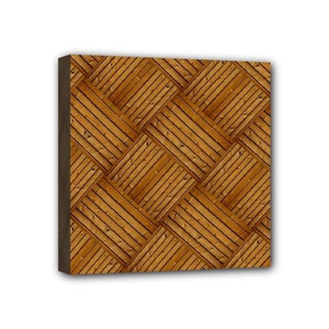 Wood Texture Background Oak Mini Canvas 4  X 4