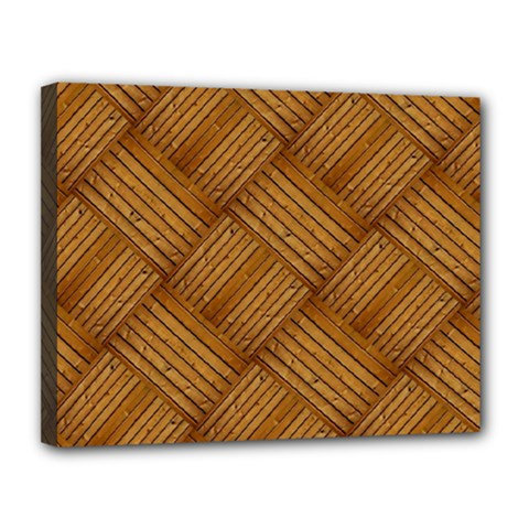 Wood Texture Background Oak Canvas 14  X 11