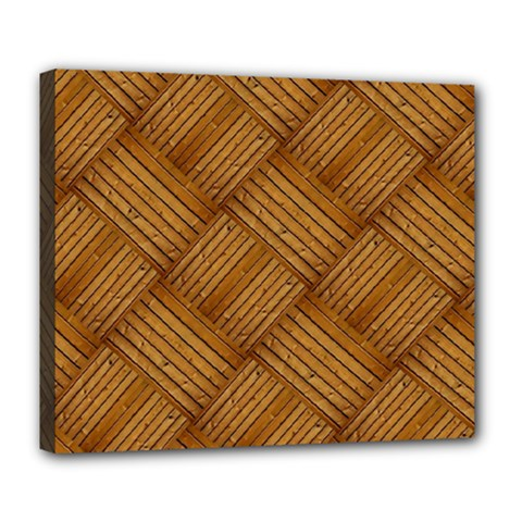 Wood Texture Background Oak Deluxe Canvas 24  X 20