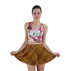 Wood Texture Background Oak Mini Skirt