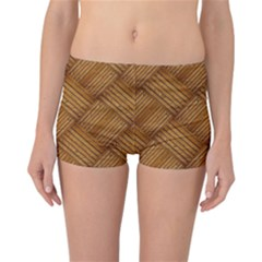 Wood Texture Background Oak Reversible Boyleg Bikini Bottoms