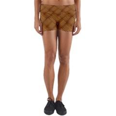 Wood Texture Background Oak Yoga Shorts