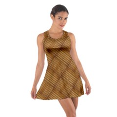 Wood Texture Background Oak Cotton Racerback Dress