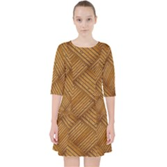 Wood Texture Background Oak Pocket Dress by Nexatart