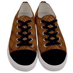 Wood Texture Background Oak Men s Low Top Canvas Sneakers