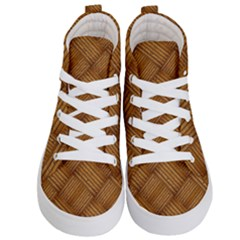 Wood Texture Background Oak Kid s Hi Top Skate Sneakers