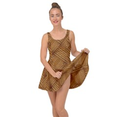Wood Texture Background Oak Inside Out Dress