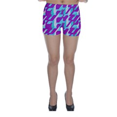 Fabric Textile Texture Purple Aqua Skinny Shorts