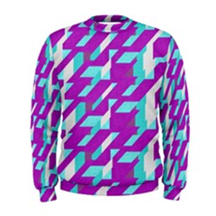 Fabric Textile Texture Purple Aqua Men s Sweatshirt