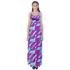 Fabric Textile Texture Purple Aqua Empire Waist Maxi Dress