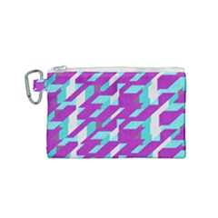 Fabric Textile Texture Purple Aqua Canvas Cosmetic Bag (small) by Nexatart