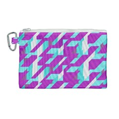 Fabric Textile Texture Purple Aqua Canvas Cosmetic Bag (large) by Nexatart