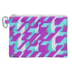 Fabric Textile Texture Purple Aqua Canvas Cosmetic Bag (xl)