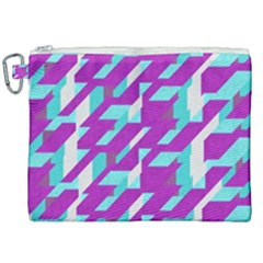 Fabric Textile Texture Purple Aqua Canvas Cosmetic Bag (xxl) by Nexatart