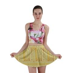 Wood Texture Grain Light Oak Mini Skirt