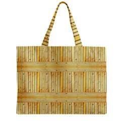 Wood Texture Grain Light Oak Zipper Mini Tote Bag