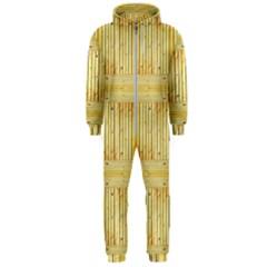 Wood Texture Grain Light Oak Hooded Jumpsuit (men)