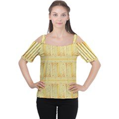 Wood Texture Grain Light Oak Cutout Shoulder Tee
