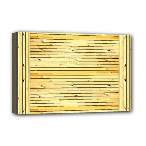 Wood Texture Background Light Deluxe Canvas 18  X 12