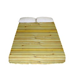 Wood Texture Background Light Fitted Sheet (full/ Double Size)