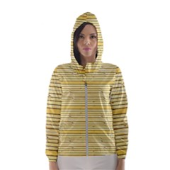 Wood Texture Background Light Hooded Wind Breaker (women)