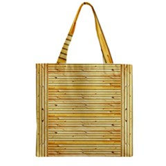 Wood Texture Background Light Zipper Grocery Tote Bag