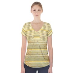 Wood Texture Background Light Short Sleeve Front Detail Top