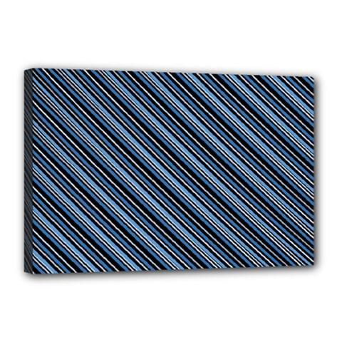 Diagonal Stripes Pinstripes Canvas 18  X 12