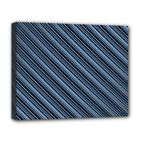 Diagonal Stripes Pinstripes Deluxe Canvas 20  X 16
