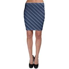 Diagonal Stripes Pinstripes Bodycon Skirt