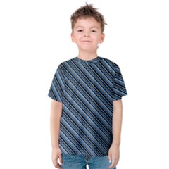 Diagonal Stripes Pinstripes Kids  Cotton Tee