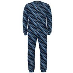 Diagonal Stripes Pinstripes Onepiece Jumpsuit (men)