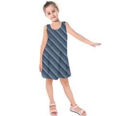 Diagonal Stripes Pinstripes Kids  Sleeveless Dress