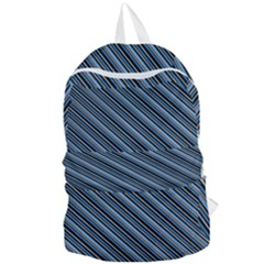 Diagonal Stripes Pinstripes Foldable Lightweight Backpack by Nexatart