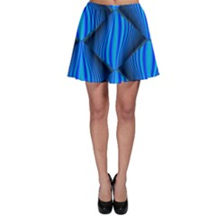 Abstract Waves Motion Psychedelic Skater Skirt