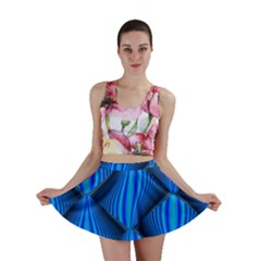 Abstract Waves Motion Psychedelic Mini Skirt