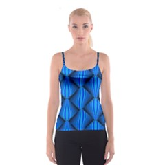 Abstract Waves Motion Psychedelic Spaghetti Strap Top