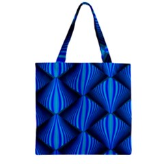 Abstract Waves Motion Psychedelic Zipper Grocery Tote Bag