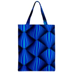 Abstract Waves Motion Psychedelic Zipper Classic Tote Bag