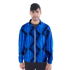 Abstract Waves Motion Psychedelic Wind Breaker (men)