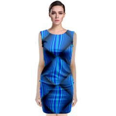 Abstract Waves Motion Psychedelic Classic Sleeveless Midi Dress