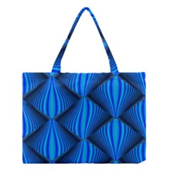 Abstract Waves Motion Psychedelic Medium Tote Bag by Nexatart